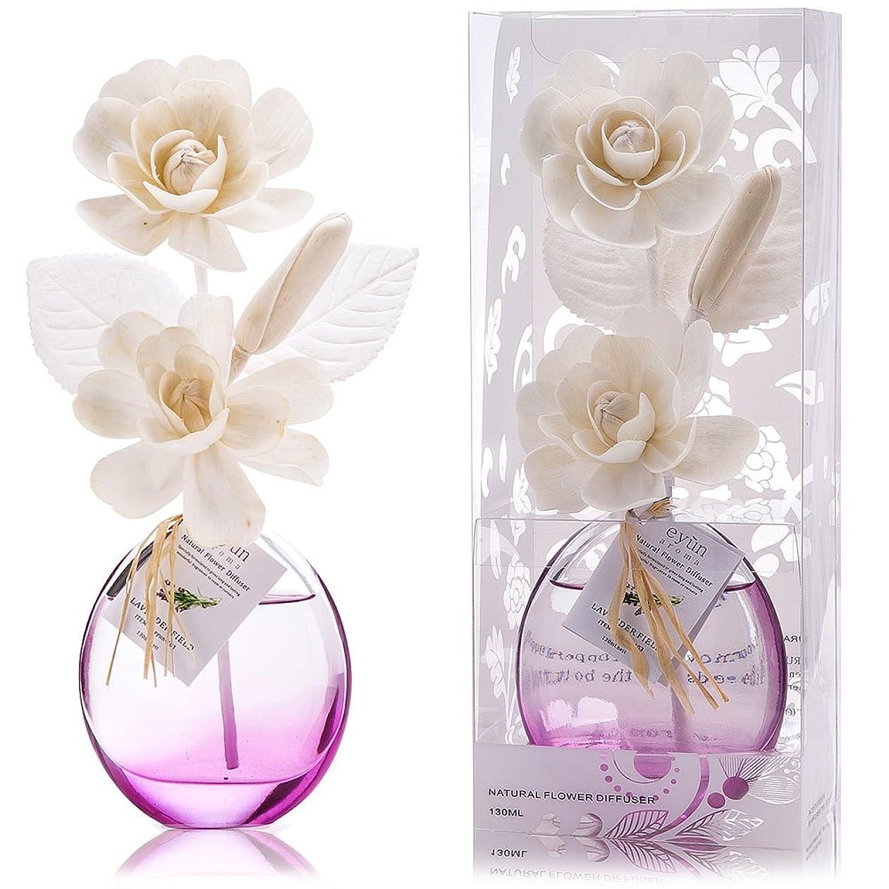 舗装権威上誕生日 プレゼント に A03 ルームフレグランス (花瓶:紫、香り:ラベンダー)