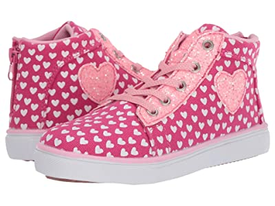 Hatley Kids Lots of Hearts High Top Sneakers (Toddler/Little Kid) (Pink) Girl
