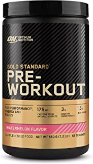 Optimum Nutrition Gold Standard Pre Workout, Watermelon, 550 Grams