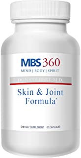 MBS360 Skin & Joint Formula Scientifically Proven Patented Proprietary Blend Supports Healthy Skin Reduced Joint Stiffness Increased Mobility Reduced Collagen Breakdown
