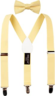 Boys' Suspenders and Solid Color Bowtie Set