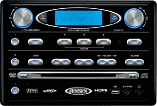 Jensen AWM975 AM/FM/CD/DVD/USB/WB/iPOD Ready Wallmount Stereo with HDMI Video, 108 Watts Total (18 Watts per Channel) Powe...