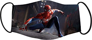 Vista Spider Man Mask for Kids - Cotton Reusable Washable Mask Size 18x10cms