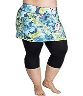 Plus Size Lotta Breeze Capris Skirt