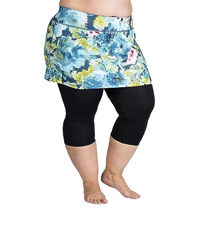 Skirt Sports Plus Size Lotta Breeze Capris Skirt (Vacay Print/Black) Women
