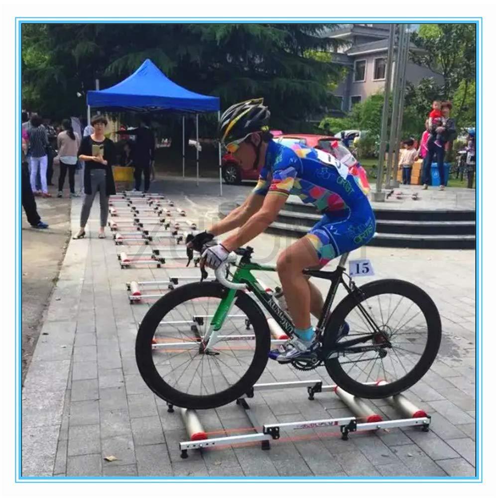 Unknow Entrenador de Bicicletas, Plataforma portátil para Andar en Bicicleta, Plataforma de Entrenamiento de Fitness para Interiores, Equipo de Entrenamiento de Ciclismo Plegable de Tres etapas: Amazon.es: Deportes y aire libre