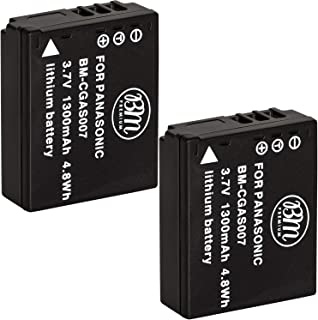BM Premium 2-Pack of CGA-S007 Batteries for Panasonic DMC-TZ1, DMC-TZ2, DMC-TZ3, DMC-TZ4, DMC-TZ5, DMC-TZ11, DMC-TZ15, DMC-TZ50 Digital Camera
