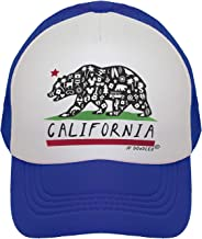 JP DOoDLES California Bear Flag on Kids Trucker Hat. Available in Baby, Toddler, Youth, and Adult Sizes