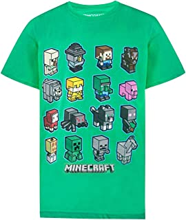 101e856eddd1f0 Vanilla Underground Minecraft Mini Mob Boys Green T-Shirt