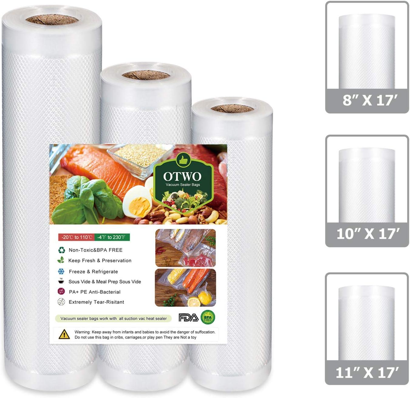"OTWO Weekly update Vacuum Sealer Bags for Japan Maker New Food 17' 8 10"" Saver x"