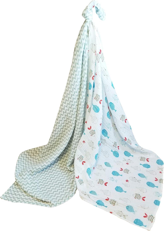 Lightweight Baby Bombing new work Blanket 100% Cotton Muslin Bag half Pack Travel 2
