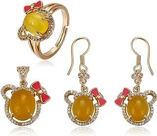Charles Delon Women Cubic Zirconia Pendant, Earrings, Ring Bijoux