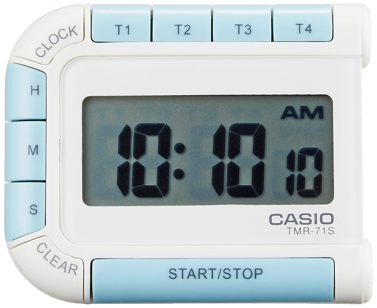 イブ世界記録のギネスブック徴収CASIO(カシオ) デジタルタイマー カウントダウン ストップウォッチ マグネット 付き ホワイト TMR-71S-7JH