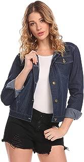 Womens Classic Button Down Denim Jean Jacket