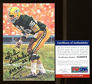 dab71042b Herb Adderley Signed Goal Line Art GLAC Autographed w HOF Packers - PSA DNA