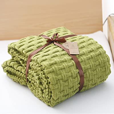Amazon.com: Encounter G Twisted Knitting Blanket Woolen ...