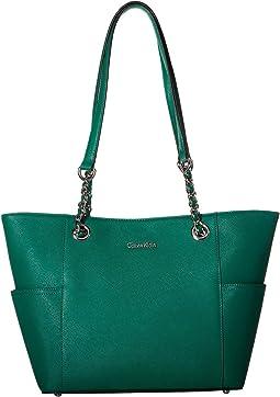 Key Item Saffiano Leather Tote