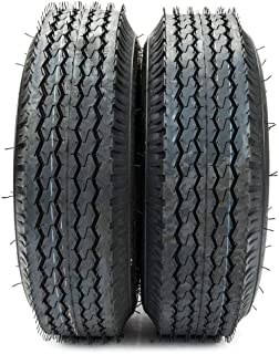 2PCS 4.80-8 Trailer Tire Load Range B 4 PR Bias Boat Tubeless Tires 4.80-8 4.80x8 4.80/4.00-8
