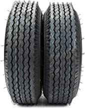 2PCS 4.80-8 Trailer Tire Load Range B 4 PR Bias Boat Tubeless Tires 4.80-8 4.80x8 4.80/4.00-8