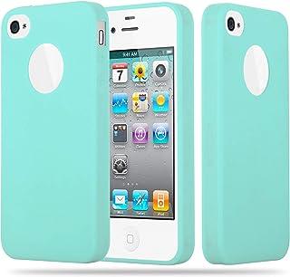 fed2b348025 Cadorabo Funda para Apple iPhone 4 / iPhone 4S en Candy Azul – Cubierta  Proteccíon de
