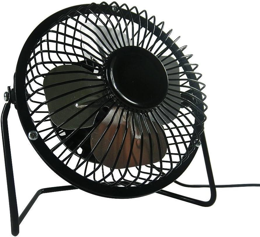 AcornSolution 4 Inch USB Desk Personal Fan , Metal Design, Quiet Operation, 360 Rotation, Portable Mini Table Fan, Perfect for Home, Office, Desktop