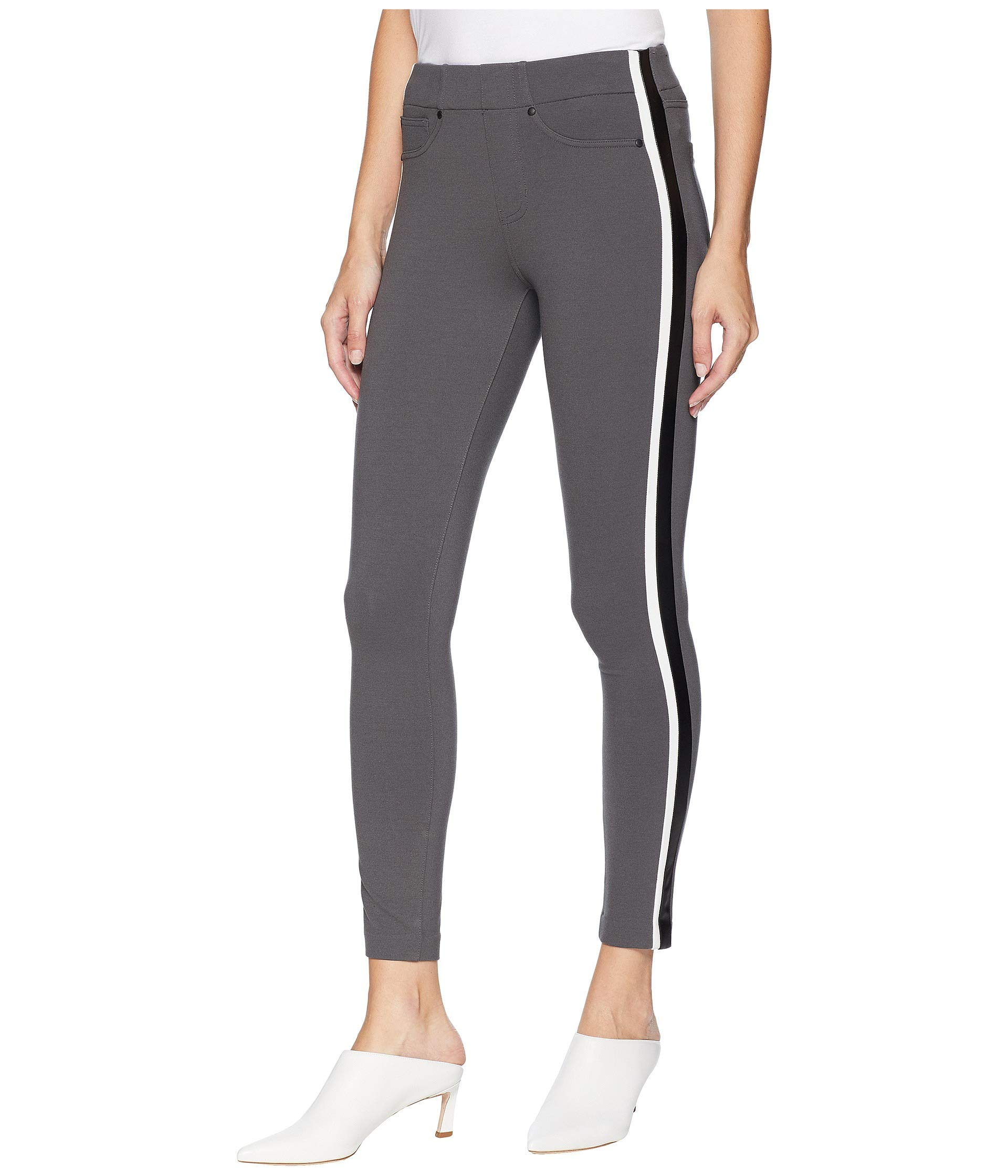 Black Egret Magnet In Double Leggings Knit Ponte Super Stripe Ankle Stretch Liverpool Chloe vR6X7PP