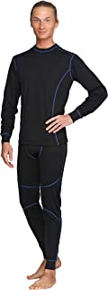 Men's Thermal Base Layer Winter Set Underwear Sports Fitness Workout 2pc Shirt & Pants