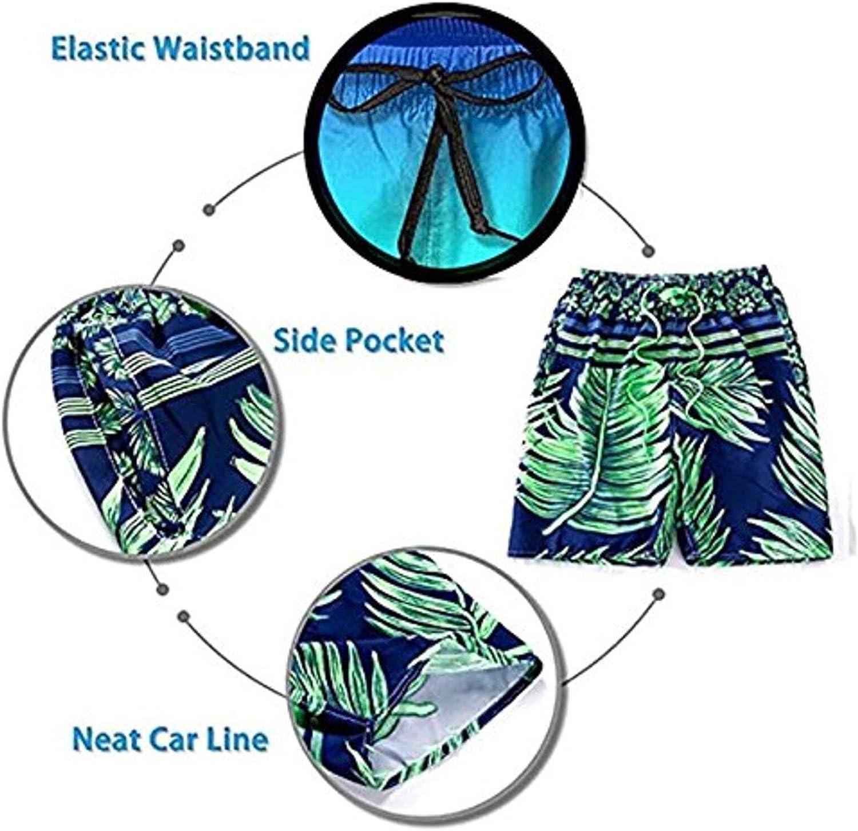 RISETRIAL Military Trucks Pattern Men's Casual Summer Beach Board Shorts Bathing Suits