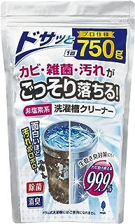 紀陽除虫菊 洗濯槽クリーナー [非塩素系 / 750g] 粉末タイプ 日本産 再付着防止 (洗濯槽掃除1回分) 過炭酸塩 除菌 消臭 雑菌 皮脂汚れ