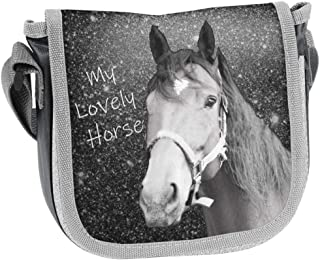 PASO - Borsa per bambini con cavalli, 17 x 15 x 4 cm, versione a scelta
