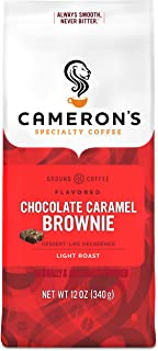 Cameron's Coffee Roasted Ground Coffee Bag, Flavored, Chocolate Caramel Brownie, 12..