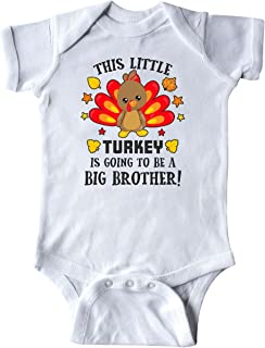 inktastic This Little Turkey is Going to Be a Big Brother Infant Creeper