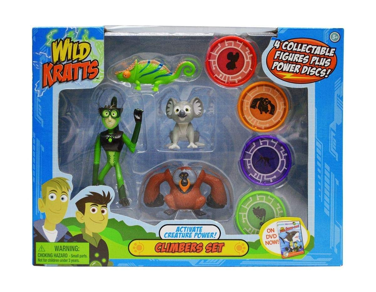 Wild Kratts Toys - 4 Pack Action Figure Set - Activate Creature Power - Climbers
