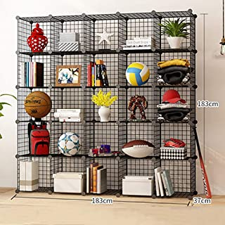 Storage Cubes Wire Grid Bookcase, Modular Metal Cube Organizer Wire Shelves, Multi-function Space-saving Book Shelves-u 25...