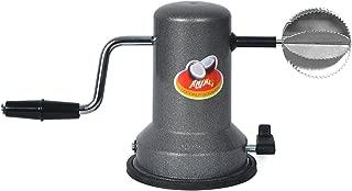 Anjali Sleek Stainless Steel Vacuum Base Coconut Scrapper Black
