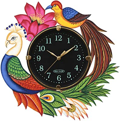 APNOGHAR Wall Clock (Brown, 13 X 13 Inches)
