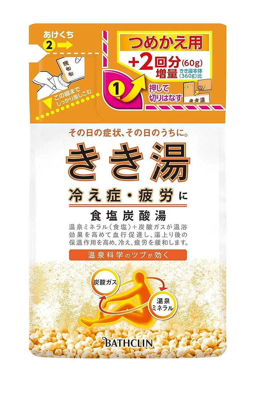 人物首レンズきき湯 食塩炭酸湯 つめかえ用 420g 入浴剤 (医薬部外品)