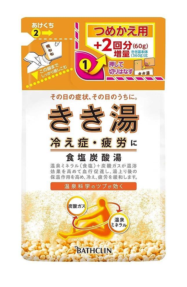 クラスバーガー専門きき湯 食塩炭酸湯 つめかえ用 420g 入浴剤 (医薬部外品)