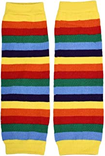 hasta la rodilla arcoiris para niños Calentar Dibujos animados Calcetines largos Anti-dobladillo Otoño e invierno elástico Medias de lana