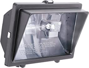 Lithonia Lighting OFL 300/500Q 120 LP BZ M6 Light Visor Flood Light with One 300-Watt and One 500-Watt Quartz Halogen Double-Ended Lamps, Black Bronze