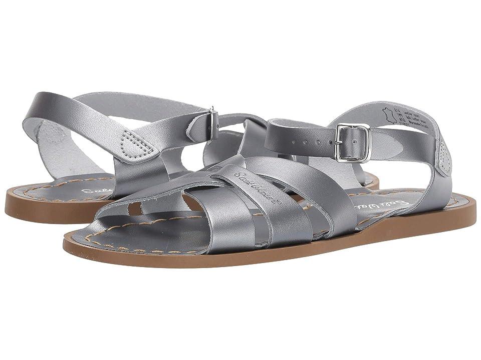 Salt Water Sandal by Hoy Shoes The Original Sandal (Big Kid/Adult) (Pewter) Girls Shoes