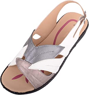 ABSOLUTE FOOTWEAR Womens Lightweight Low Wedge Summer/Holiday Sandal/Shoes