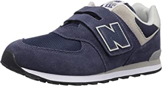 New Balance Unisex-Child 574 V1 Evergreen Hook and Loop Sneaker