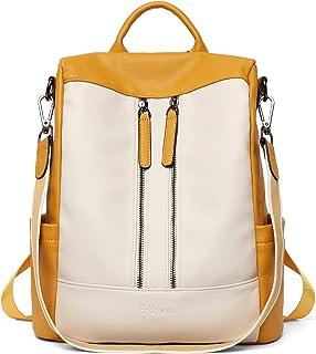 Damen Rucksack Schwarz Anti Diebstahl Rucksack Damenrucksack aus Leder Rucksackhandtasche Tagesrucksack für Frauen Mädchen