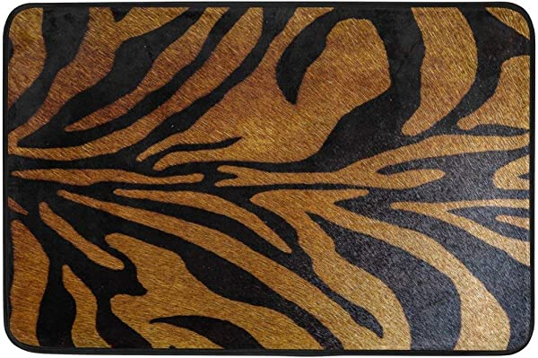 Maozond8 Animal Tiger Skin Print Non Slip Door Mat Home Decor Durable Indoor Outdoor Entrance Doormat 23 6 X 15 7 Inches