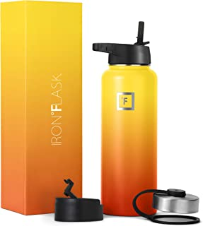 Iron Flask Sports Water Bottle - 18oz, 22oz, 32oz, 40oz, or 64oz, 3 Lids, Vacuum Insulated Stainless Steel, Hot Cold, Mode...