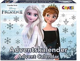CRAZE Kalendarz adwentowy Frozen II kalendarz bożonarodzeniowy 2021 Królowa lodu księżniczka lodu dla dziewczynek, kalenda...