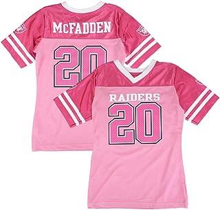 Outerstuff Darren McFadden NFL Oakland Raiders Mid Tier Replica Pink Jersey Girls (7-16)