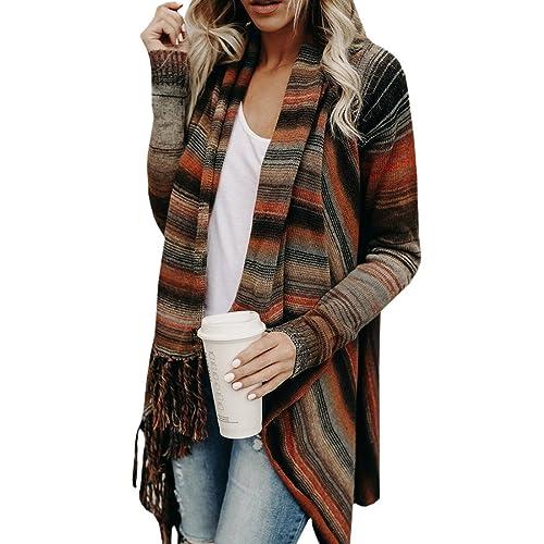 5e7ba8c606 Womens Tassel Fringed V Front Vintage Plaid Pashmina Shawl Wrap Scarf  Knitwear Tops Cloak Cape Poncho