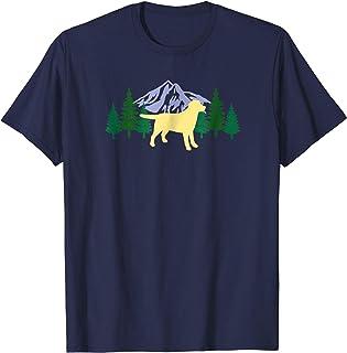 Yellow Labrador Outline Silhouette Evergreen Tshirt